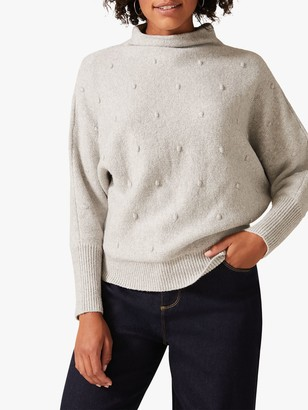 Phase Eight Bella Bobble Knit Jumper, Grey