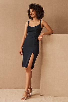 BHLDN Ana Crepe Midi Dress By in Blue Size 18