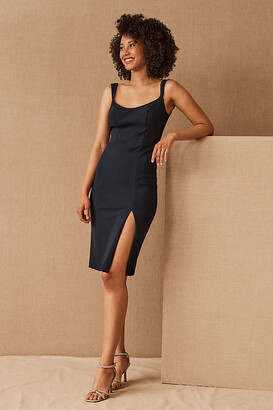 BHLDN Ana Crepe Midi Dress By in Blue Size 8