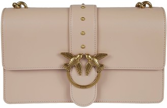 Pinko Bird Wings Chain Strap Quilted Shoulder Bag