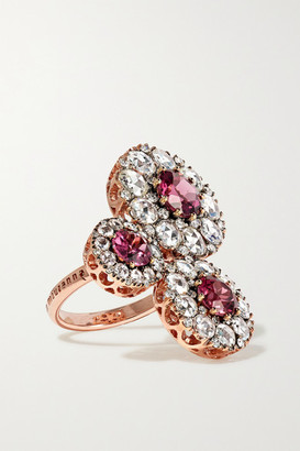 Selim Mouzannar Beirut 18-karat Rose Gold, Diamond And Rhodolite Ring - 52