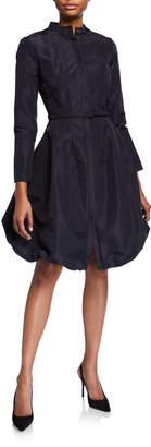 Oscar de la Renta Contoured Bubble Belted Dress