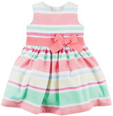 Carter's Striped Sateen Dress