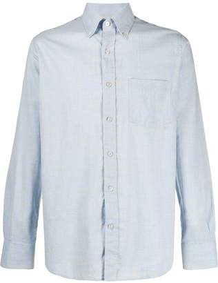 Canali long sleeved patch pocket shirt