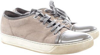 Lanvin Brown Leather Trainers