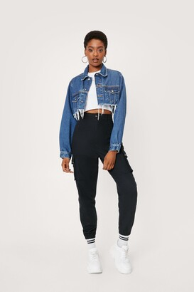 Nasty Gal Womens High-Waisted Utility Trousers with Zip Closure - Black - 4