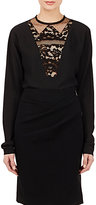 Lanvin Women's Lace-Inset Tunic Blouse-BLACK