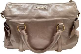 Miu Miu Vitello Pink Patent leather Handbags