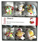 Dexam 4 cm Tinplate Mini Christmas Cookie Cutters, Set of 9
