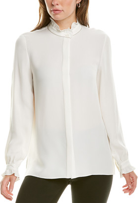Lafayette 148 New York Kelly Silk Blouse