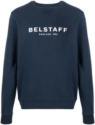 Belstaff Crew Neck Logo Print Sweater