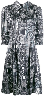 Charles Jeffrey Loverboy printed shirt dress
