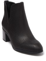 Franco Sarto Roar Snake Embossed Notched Bootie