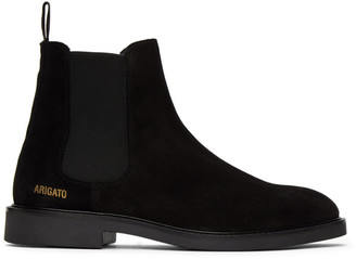 Axel Arigato Black Suede Chelsea Boots