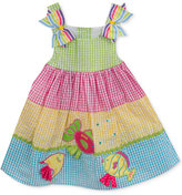 Rare Editions Gingham Fish Dress, Baby Girls (0-24 months)