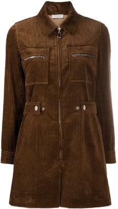 Sandro Paris Long-Sleeved Corduroy Jumpsuit