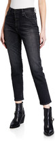 AG Jeans Isabelle High-Rise Button-Up Straight Jeans