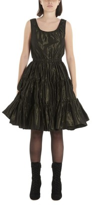 Miu Miu Ruched Detail Flared Dress