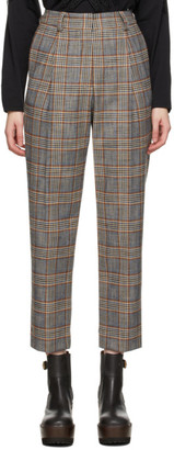 See by Chloe Brown and Blue Houndstooth Trousers
