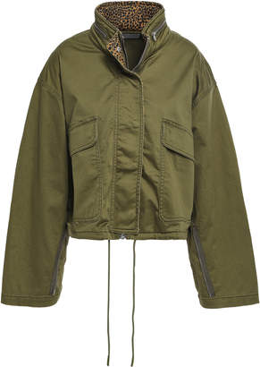 Current/Elliott Zip-detailed Cotton-blend Jacket