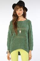 *LA Boutique The Claire Sweater in Green