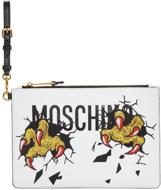 Moschino White Claws Pouch