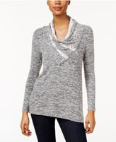 Style&Co. Style & Co Petite Lace-Trim Space-Dyed Top, Only at Macy's