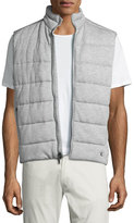 Ralph Lauren Quilted Heather Knit Vest, Light Gray