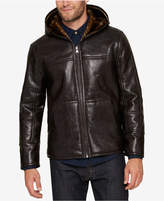Andrew Marc Men's Faux Leather Hooded Jacket