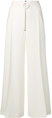 Maison Flaneur Cropped Flared Trousers