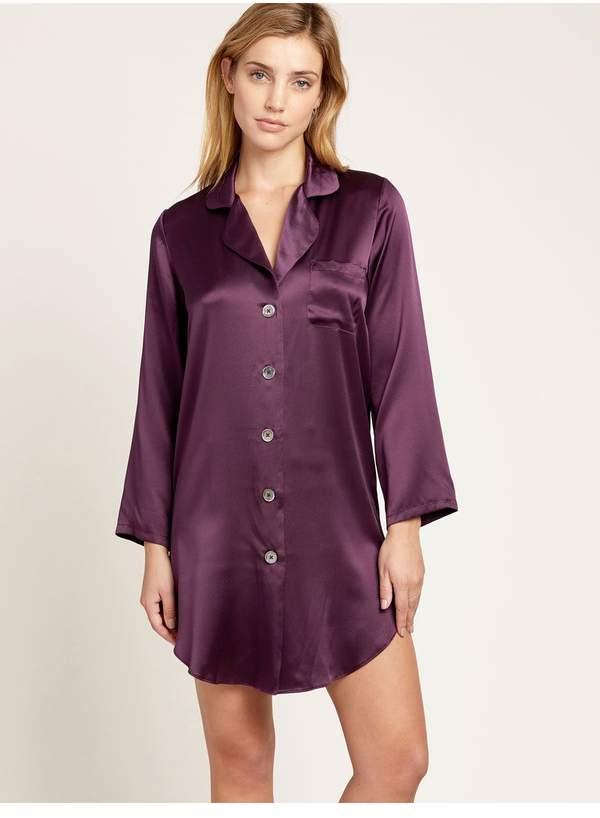Morgan Lane Jillian Night Shirt In Plum