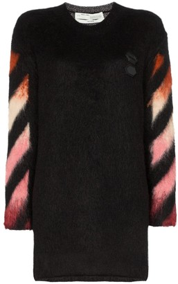 Off-White Ombre Arrow-Print Knitted Dress