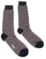 Missoni Gm00cmu4655 0001 Black/orange Knee Length Socks.
