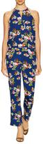 Laurel Floral Print Wrap Jumpsuit