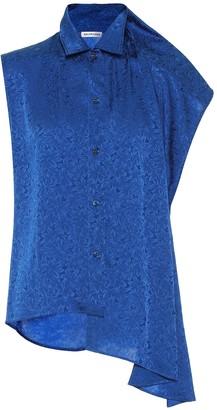 Balenciaga Silk-blend jacquard blouse
