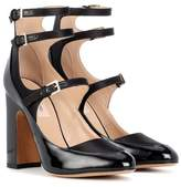 Valentino patent leather and satin pumps