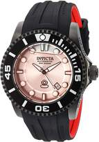 Invicta Men's 'Pro Diver' Automatic Stainless Steel and Silicone Diving Watch, Color:Black (Model: 22995)