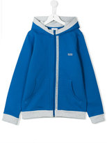 Boss Kids - teen zip-up hooded sweatshirt - kids - Cotton/Spandex/Elastane - 14 yrs