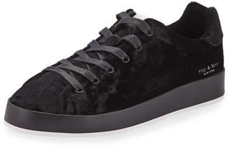 Rag & Bone RB1 Low-Top Velvet Low-Top Sneakers