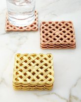 """Woven"" Filigran Coasters, Set of 4"