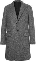 Neil Barrett Slim-fit Virgin Wool-blend Bouclé Coat - Gray