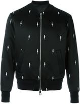 Neil Barrett lightning bolt bomber jacket - men - Polyamide/Polyester/Acetate/Viscose - XL
