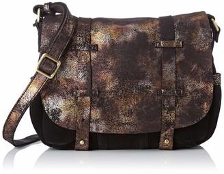 Mila Louise Womens 3017VM Cross-body Bag Black Black (NOIR 01)