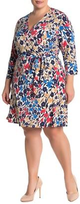 Leota Perfect Wrap Mini Dress (Plus Size)