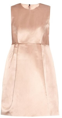 Raey Babydoll Duchess Silk Satin Dress - Womens - Pink