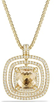 David Yurman Chatelaine Pave Bezel Enhancer with Champagne Citrine and Diamonds in 18K Gold