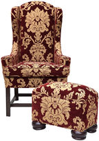 One Kings Lane Vintage Baker Chippendale-Style Chair & Ottoman