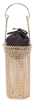 Rosantica Ghizlan Mini Crystal-embellished Clutch Bag - Womens - Black Multi