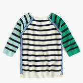J.Crew Girls' sparkle and stripe sweater