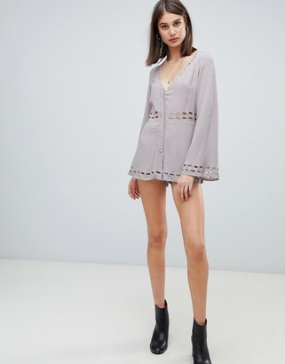 Religion ultimate romper with cut out details